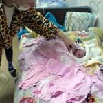Специально выбирали розовое, любимый цвет мамы ))