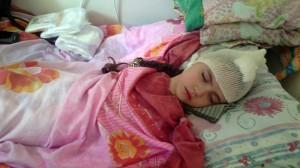 Амалия после операции. Спящая красавица.