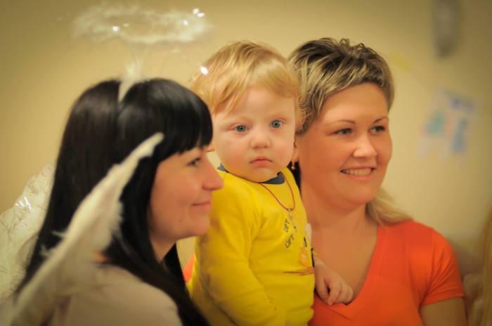 Миша Кирделев с мамой